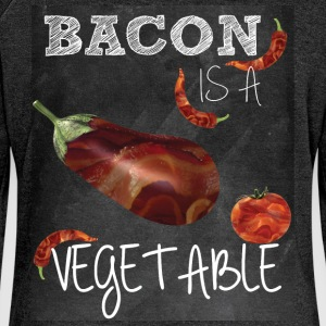 Bacon is a vegetable - Women's Boat Neck Long Sleeve Top