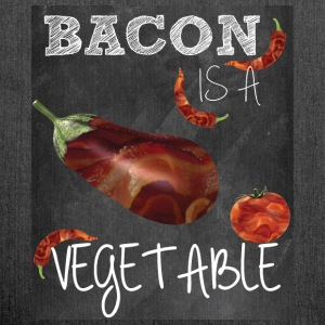 Bacon is a vegetable - Shoulder Bag made from recycled material