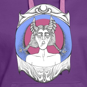 demon color Tops - Frauen Premium Hoodie