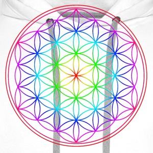 Blume des Lebens - Flower of Life -  Rainbow T-Shirts - Men's Premium Hoodie