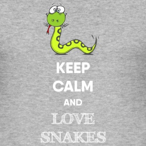 KEEP CALM AND SNAKE Pullover & Hoodies - Männer Slim Fit T-Shirt