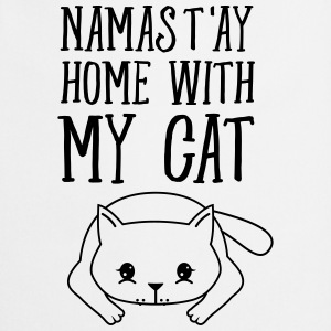 Namast'ay Home With My Cat T-shirts - Forklæde