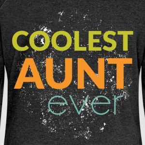 Coolest aunt ever - Women's Boat Neck Long Sleeve Top
