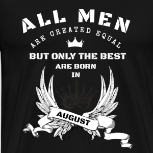 the best are born august  Langarmshirts - Männer Premium T-Shirt