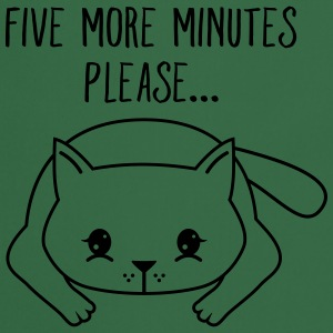 Lazy Cat | Five More Minutes Please... T-shirts - Forklæde