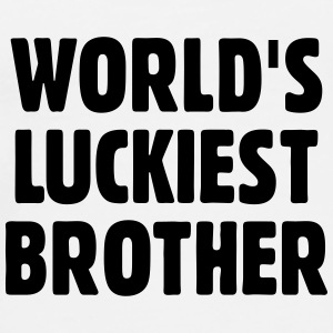 World's Luckiest Brother Mugs & Drinkware - Men's Premium T-Shirt