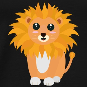 Cute kawaii lion Bags & Backpacks - Men's Premium T-Shirt