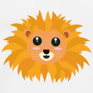Kawaii lion's head Bags & Backpacks - Men's Premium T-Shirt