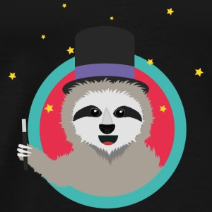 Magican sloth with magic wand Baby Long Sleeve Shirts - Men's Premium T-Shirt