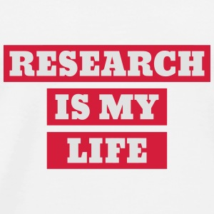 Researcher Research Forscher Chercheur Recherche Mugs & Drinkware - Men's Premium T-Shirt