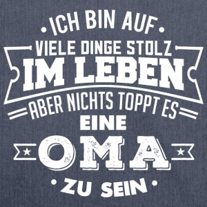 Stolze Oma Omi Großmutter Langarmshirts - Schultertasche aus Recycling-Material