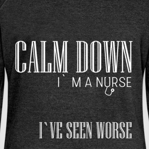 Calm down I'm a nurse I've seen worse  - Women's Boat Neck Long Sleeve Top
