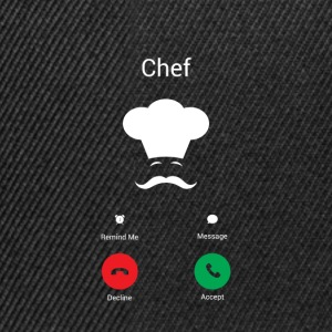 Le chef reçoit Tee shirts - Casquette snapback