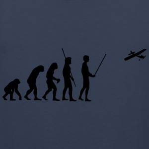 Evolution model airplane T-Shirts - Men's Premium Tank Top