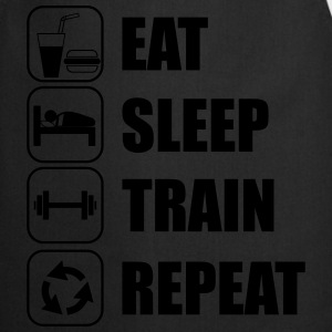 Eat,sleep,train,repeat Funny Gym T-shirt - Cooking Apron