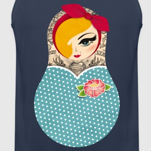 Matroschka Pin-up blond - Männer Premium Tank Top