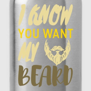 I know you want my beard - Water Bottle