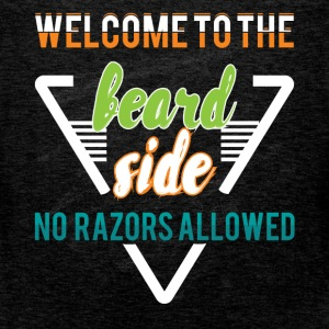 Welcome to the beard side no razors allowed - Men's Premium Tank Top