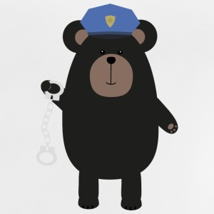 Police black bear and handcuffs Shirts - Baby T-Shirt