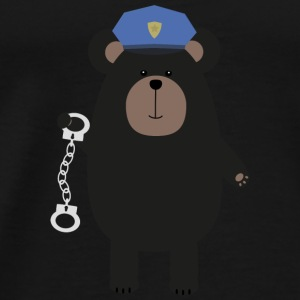 Police black bear and handcuffs Baby Long Sleeve Shirts - Men's Premium T-Shirt