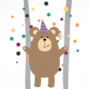 Party Brown bear Skjorter - Premium hettegenser for menn