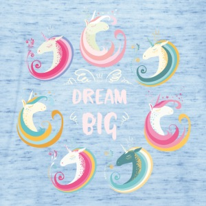 Dream Big Unicorns Tee shirts - Débardeur Femme marque Bella