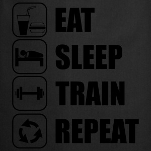 Eat,sleep,train,repeat Gym T-shirt - Cooking Apron