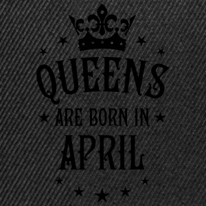 Queens are born in April Crown Queen sexy T-Shirt  - Snapback Cap