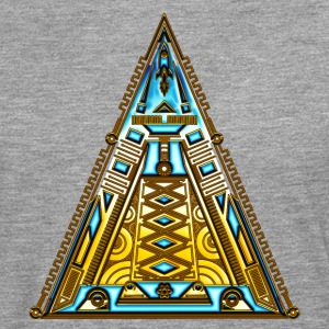Pyramid, triangle, geek, nerd, sci-fi, tech, space T-Shirts - Men's Premium Longsleeve Shirt