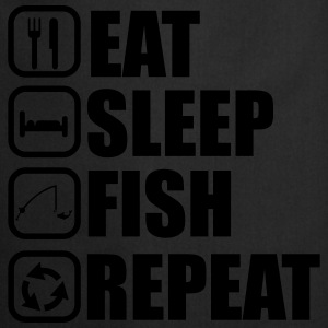 EAT SLEEP FISH T-paidat - Esiliina
