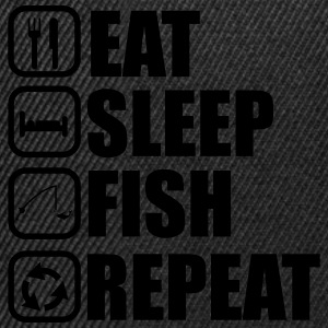 EAT SLEEP FISH T-Shirts - Snapback Cap