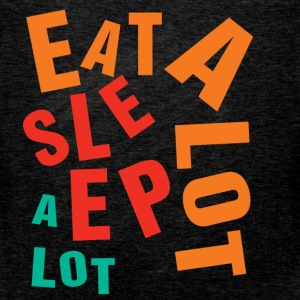 Eat a lot sleep a lot  - Men's Premium Tank Top