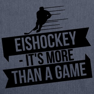 Eishockey - It's more than a game Langærmede t-shirts - Skuldertaske af recycling-material