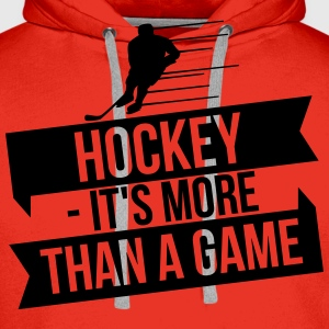 hockey - It's more than a game Manga larga - Sudadera con capucha premium para hombre