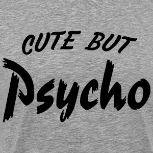 cute but psycho Langarmede T-skjorter - Premium T-skjorte for menn