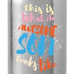 This is what an awesome son looks like - Water Bottle