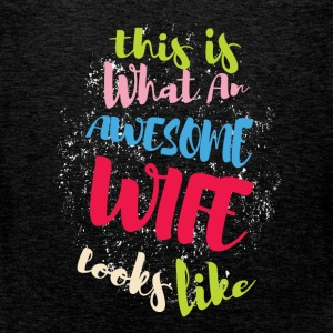 This is what an awesome wife looks like - Men's Premium Tank Top
