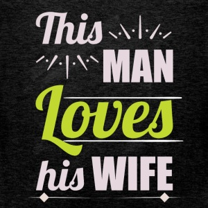This man loves his wife - Men's Premium Tank Top