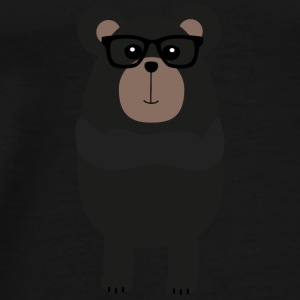 Nerd - black bear Bags & Backpacks - Men's Premium T-Shirt
