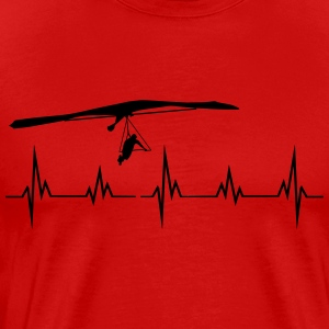 Heartbeat hang-glider Long Sleeve Shirts - Men's Premium T-Shirt