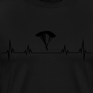 Heartbeat paragliding Long Sleeve Shirts - Men's Premium T-Shirt