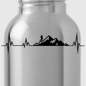 Heartbeat mountains wadnerer T-Shirts - Water Bottle