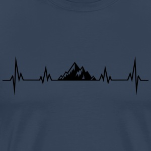 Heartbeat mountains Long Sleeve Shirts - Men's Premium T-Shirt
