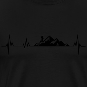 Heartbeat mountains wadnerer Baby Long Sleeve Shirts - Men's Premium T-Shirt