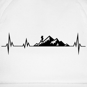 Heartbeat mountains wadnerer T-Shirts - Baseball Cap