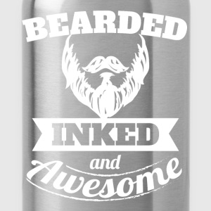Bearded inked and awesome - Water Bottle