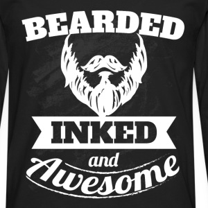 Bearded inked and awesome - Men's Premium Longsleeve Shirt