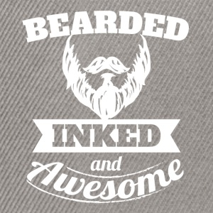 Bearded inked and awesome - Snapback Cap