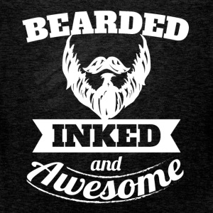 Bearded inked and awesome - Men's Premium Tank Top