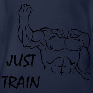Just Train Shirts - Baby bio-rompertje met korte mouwen